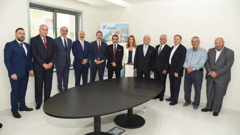 افتتاح الفرع الجديد لشركة فيدلتي للتأمين في صور بحضور حاشد