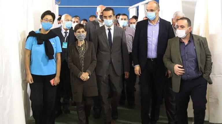 وزير الصحة يفتتح مركز عزل في المريجة